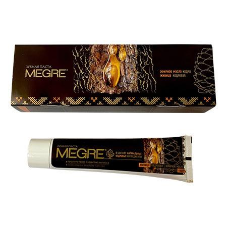 Hammastahna «MEGRE» eteerisellä sembraöljyllä ja -pihkalla, 60 ml (ruskeanvärinen)