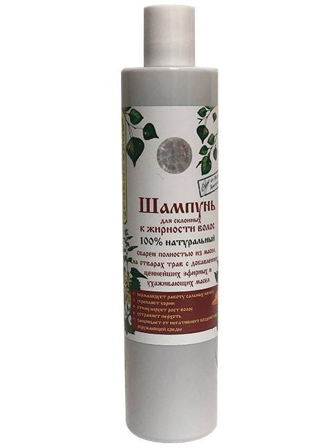 Luonnollinen shampoo rasvoittuville hiuksille ja koko keholle, 350 ml