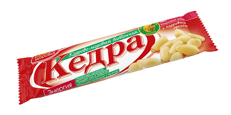 Sembra- ja hunajapatukka «ENERGIA» sembranpähkinöillä, 30 g.