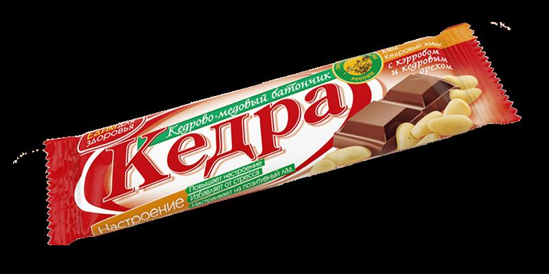 Sembra- ja hunajapatukka «HYVÄ MIELI» johanneksenleipäpuulla ja sembranpähkinöillä, 30 g.